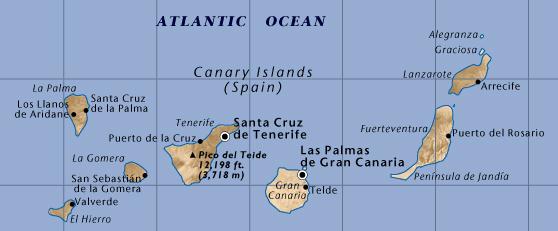 Spanje canarische eilanden lanzarote - Tafelhuis van het wereld lange eiland ...