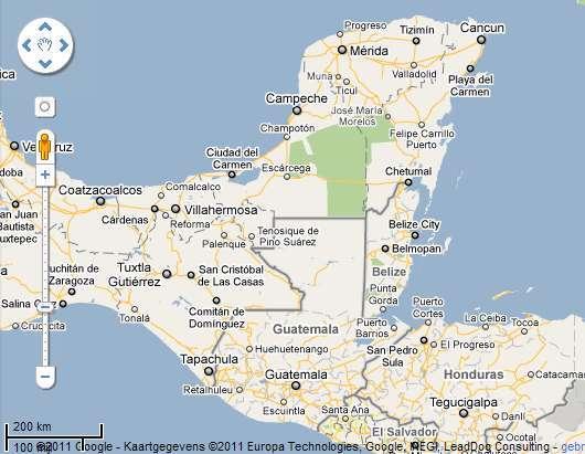 Mexico 2010 Landkaart 4